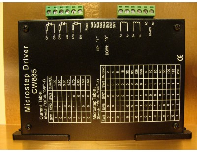 Stepper Motor Driver 8.5A, 24-60VAC or 34-80VDC CNC Microstepping CW885