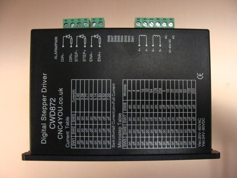Digital Dsp Stepper Driver 7 2a  80vdc Or 60vac Cwd872