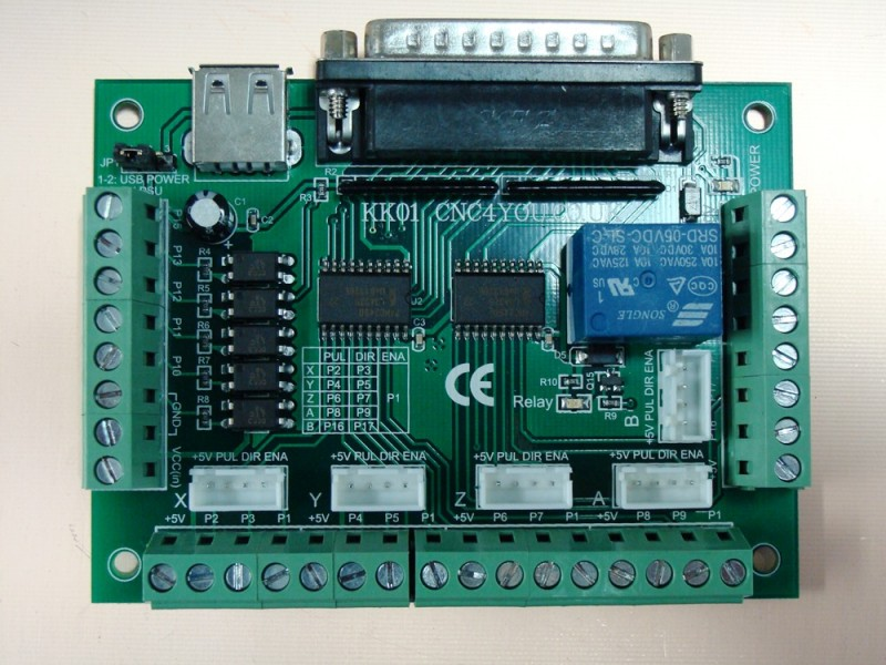 Breakout Board Kk01 Cnc Stepper Motor 5 Axis With Relay